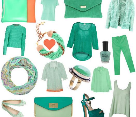 Cómo llevar el color verde menta