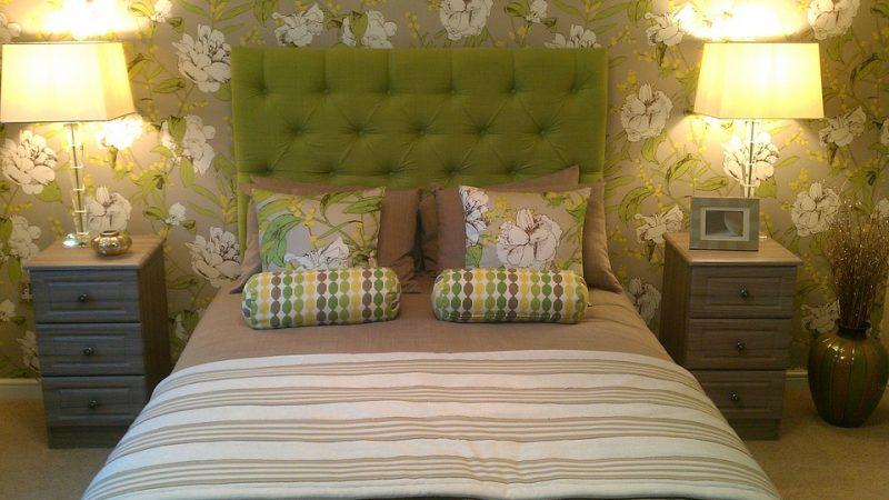 Ideas de decoración de dormitorios verdes